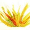 Children's art matters: palm branch watercolours