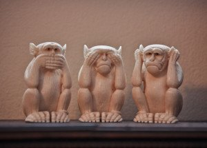 """Speak No Evil, See No Evil, Hear No Evil"" Some rights reserved (CC BY-NC-ND 2.0) by Alison Curtis. Sourced from Flickr."