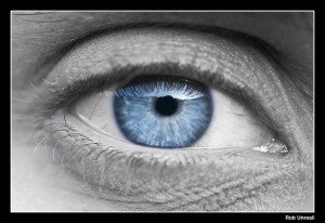 Blue Eye. Some rights reserved (CC BY-SA 2.0) by Rob Unreall. Sourced from Flickr.