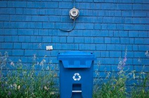 blue recycling box. Some rights reserved (CC BY 2.0) by Luke Ratzlaff