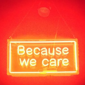 """because we care"" Some rights reserved (CC BY 2.0) by farad pocha. Sourced from Flickr"