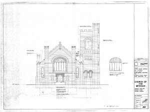 Church of The Messiah, Toronto: East Elevation