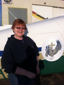 Fiona Brownlee and On Eagles Wing plane
