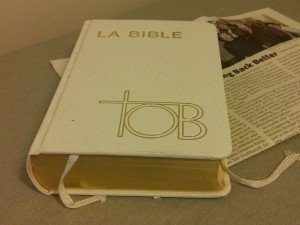 Bible, newspaper. Some rights reserved (CC BY-NC-SA 2.0) by LMP+