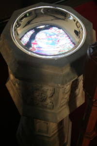 """""""Baptismal Font"""" Photo by The Ven. David Pickett; used with permission"""