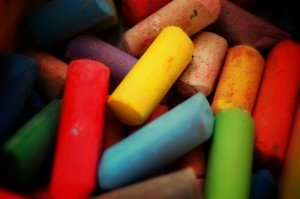 multi-coloured chalk