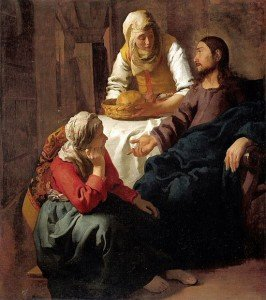 Christ in the House of Mary and Martha; Johannes Vermeer 1655